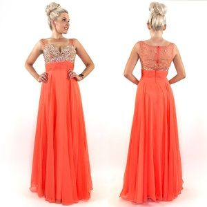Rhinestone Pageant Prom Dress